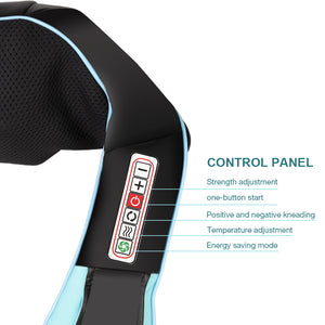 U Shape Electrical Shiatsu Massager with Infrared for Neck Pain Relief and Relaxation