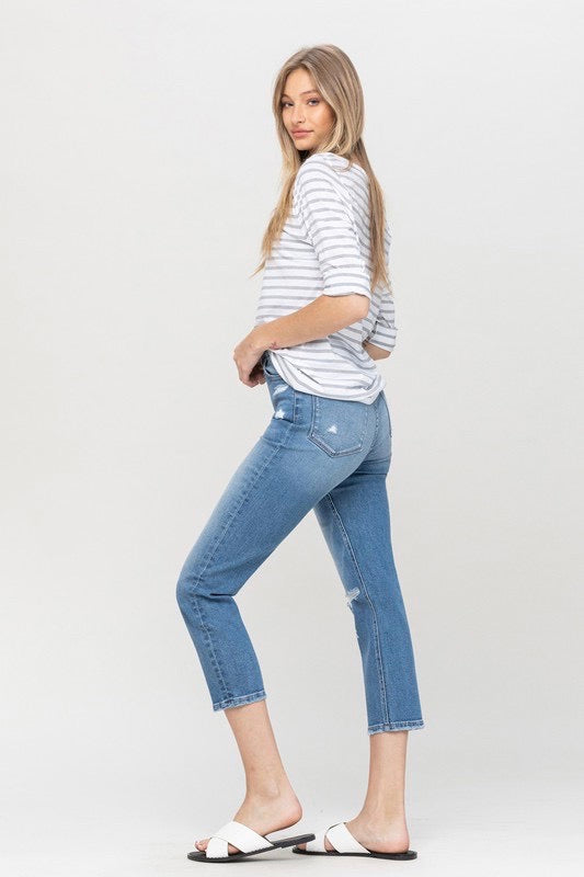Vervet Super High Rise Slim Straight Crop