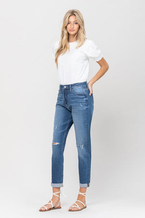 Vervet Double Cuffed Mom Jean