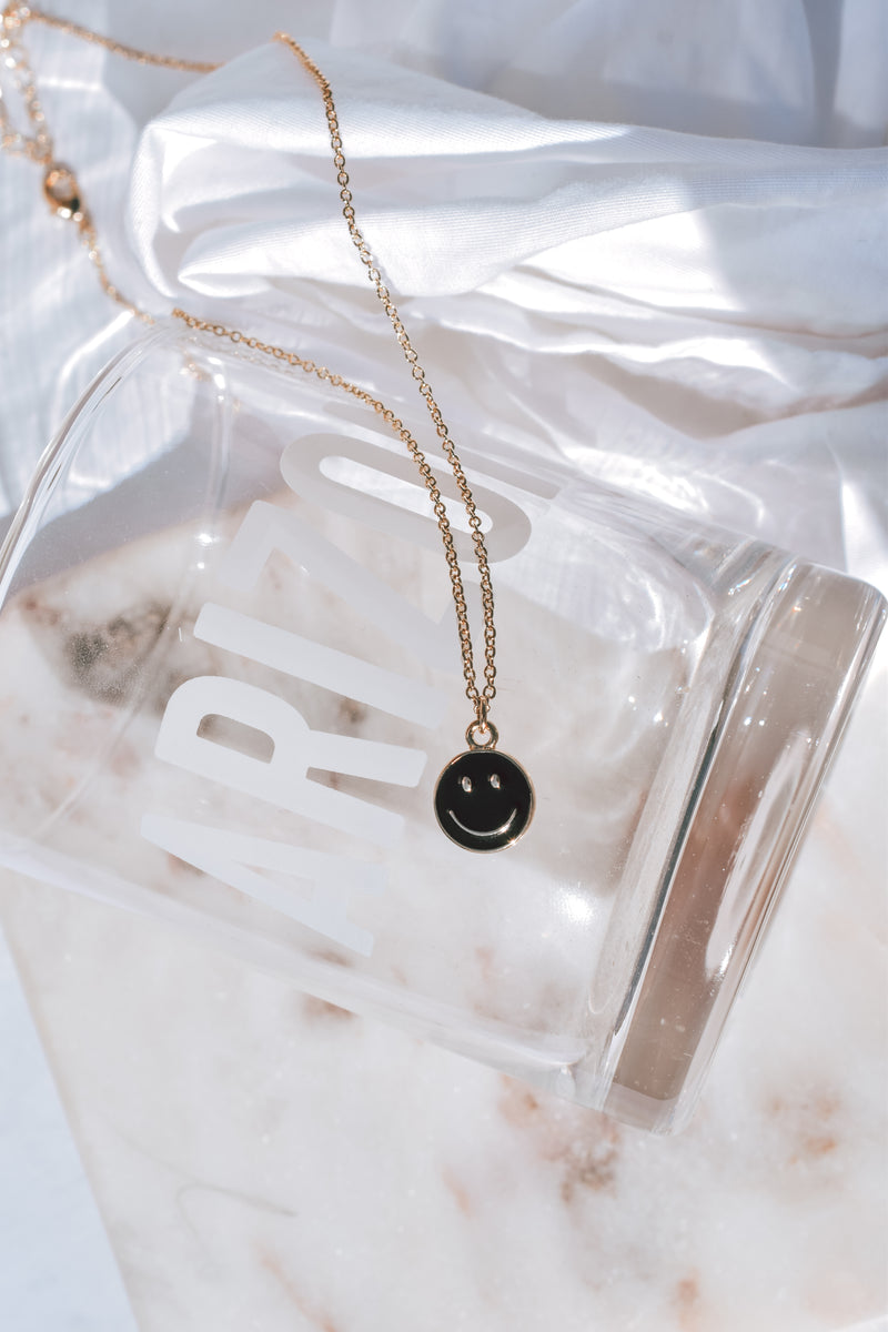 Black Smiley Necklace