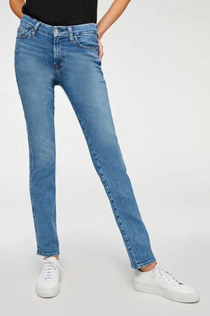 7 For All Mankind Kimmie Straight (Sunlight Blue)