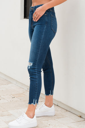 Just Black Destruction Skinny (Dark Denim)