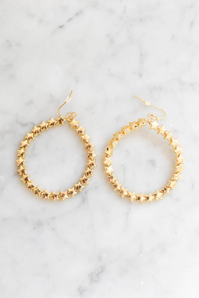 Starry Night Hoop Earrings