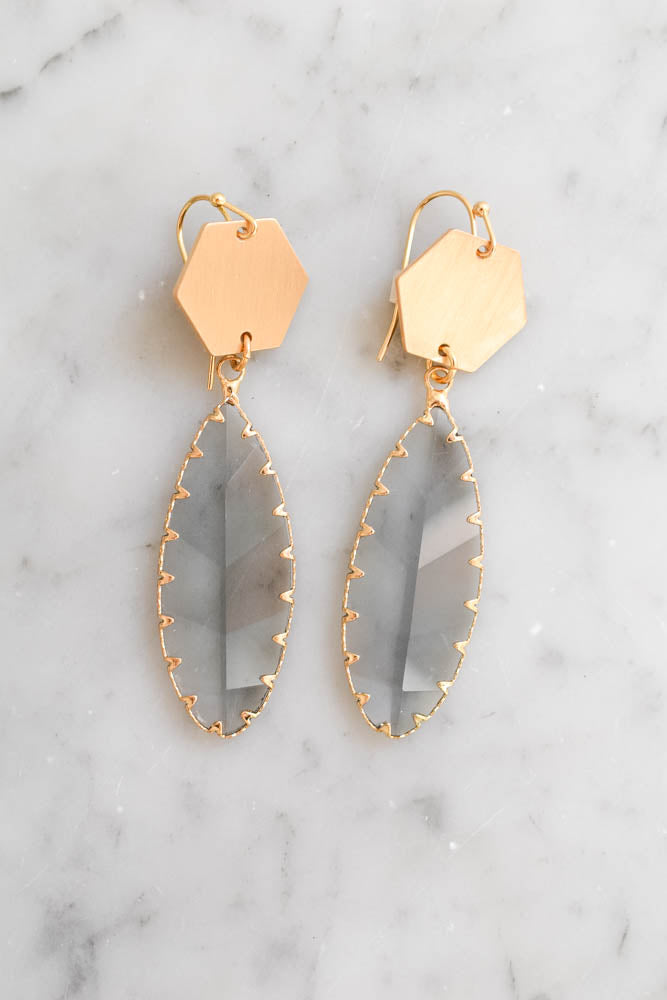 Goldmine Earrings (Blue/Gold)