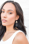 "Collections ""Chelsey"" Marble Dropped Earrings"