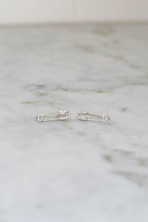 Patricia Pin Earrings (Silver)