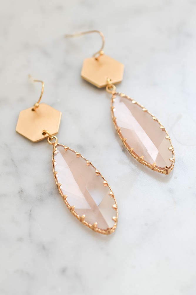 Goldmine Earrings (Tan/Gold)