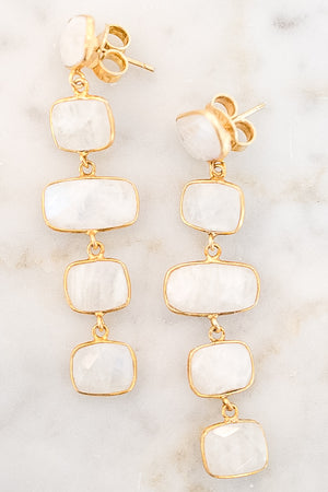 "Collections ""Amora"" Crystal Earrings (White)"