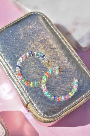 Fun in the Sun Beaded Hoops (Rainbow)