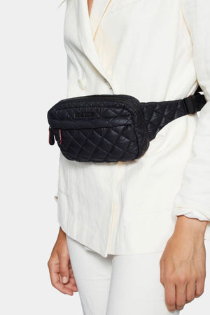 MZ Wallace Metro Belt Bag (Black Rec)