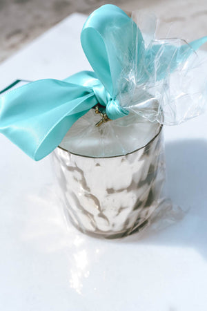 B's Knees Mercury Glass Votive Candle (Ocean Air)