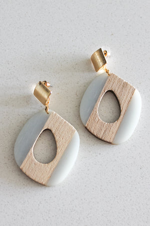 Sophia Drop Earrings (Teal)