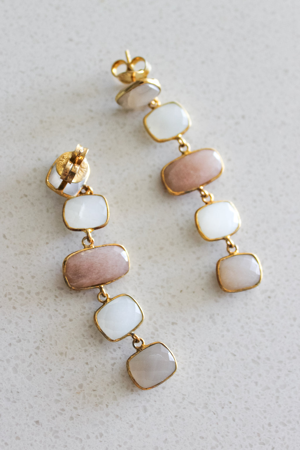 "Collections ""Amora"" Crystal Earrings (Blush/White)"