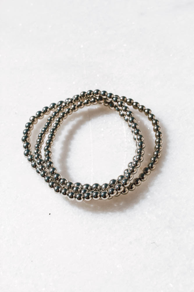 Julia Stacking Bracelet (Silver Tone)