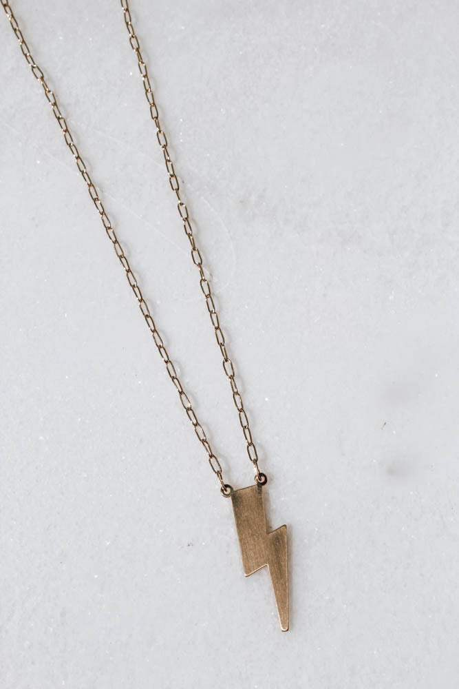 Chain Bolt Necklace