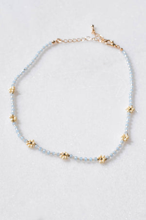 Daisy Necklace (Light Blue)