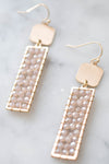 "Collections ""Seaside"" Earrings (Blush Iridescent)"