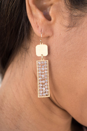 "Collections ""Seaside"" Earrings (White Iridescent)"
