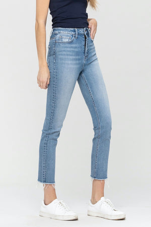 Vervet Super High Rise Slim Crop Straight (Swish)