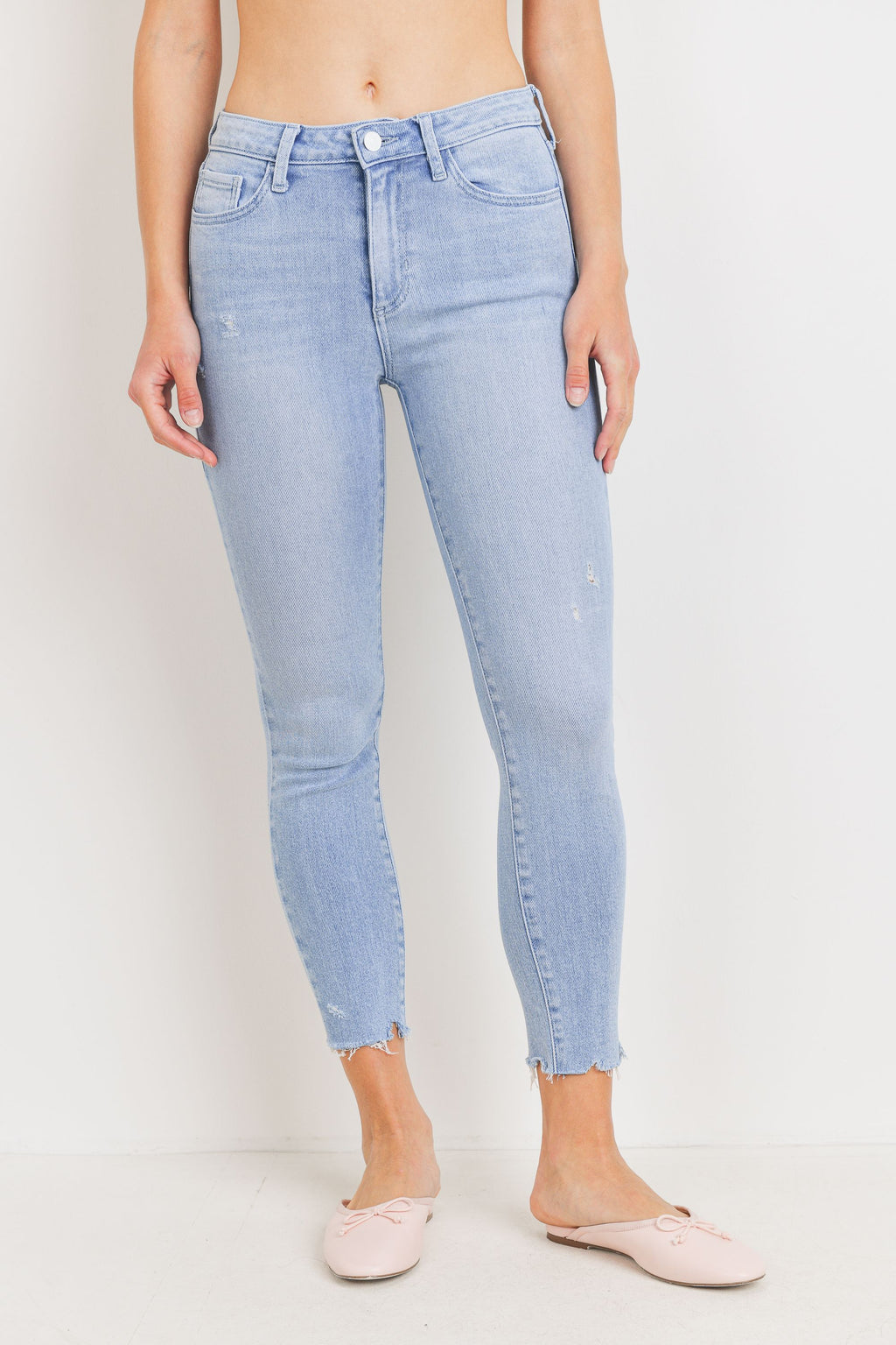 Just Black Cropped Skinny (Light Denim)