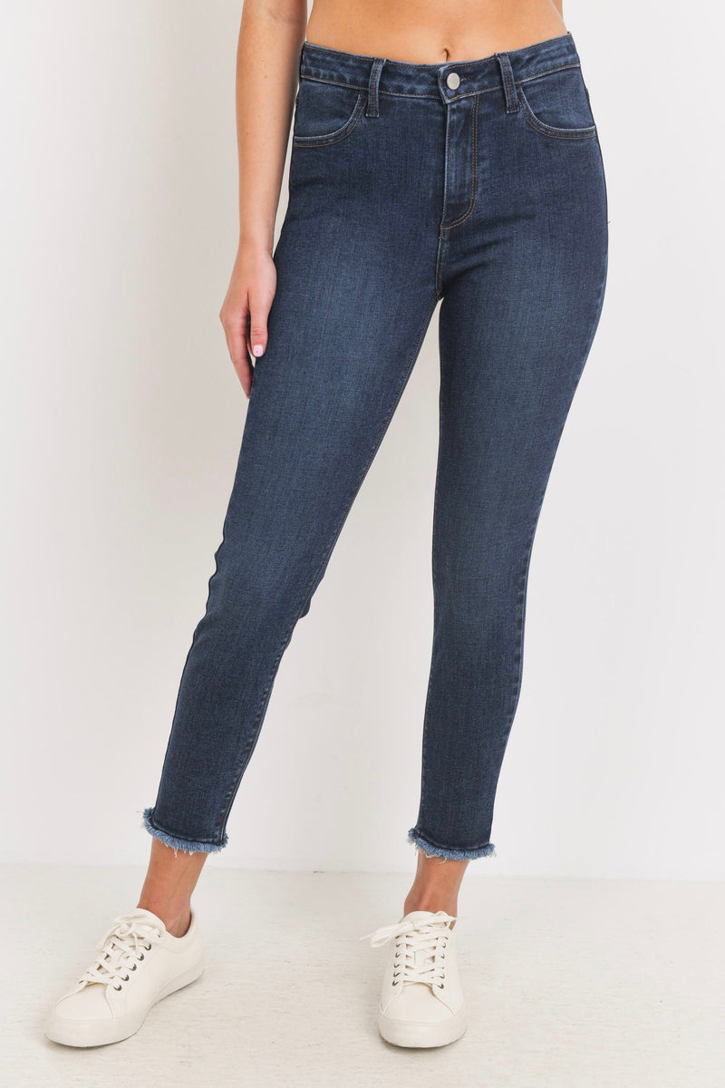 Just Black Skinny Frayed Hem (Dark Denim)