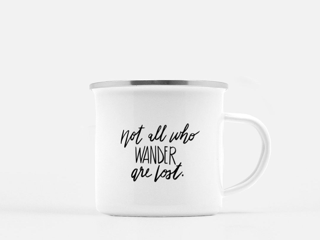 """Not All Who Wander"" Campfire Mug"