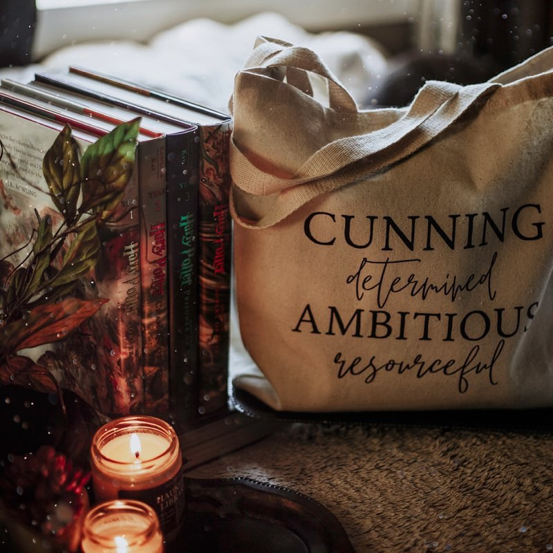 """House of the Cunning"" Book Tote"