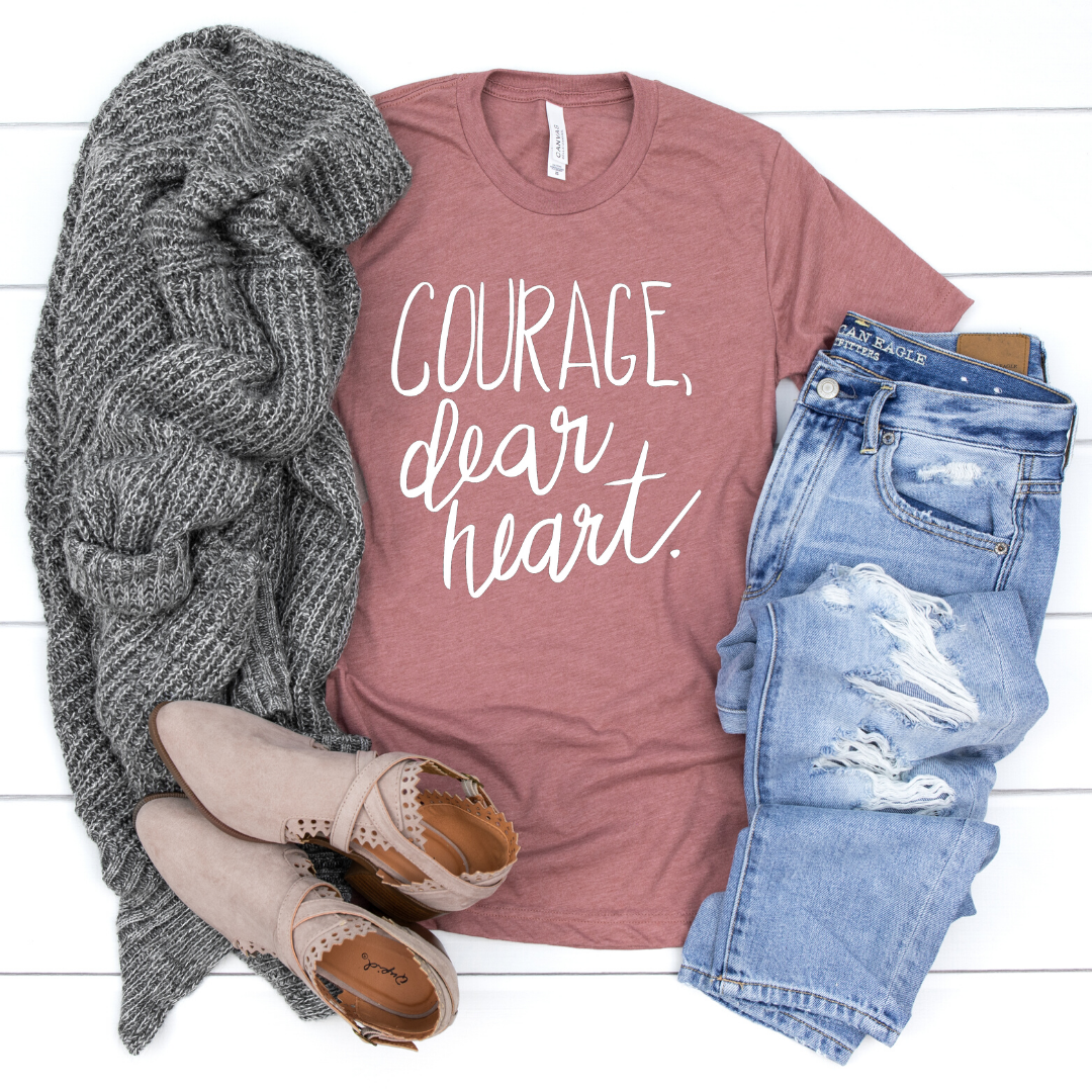 """Courage, Dear Heart"" Literary Shirt"