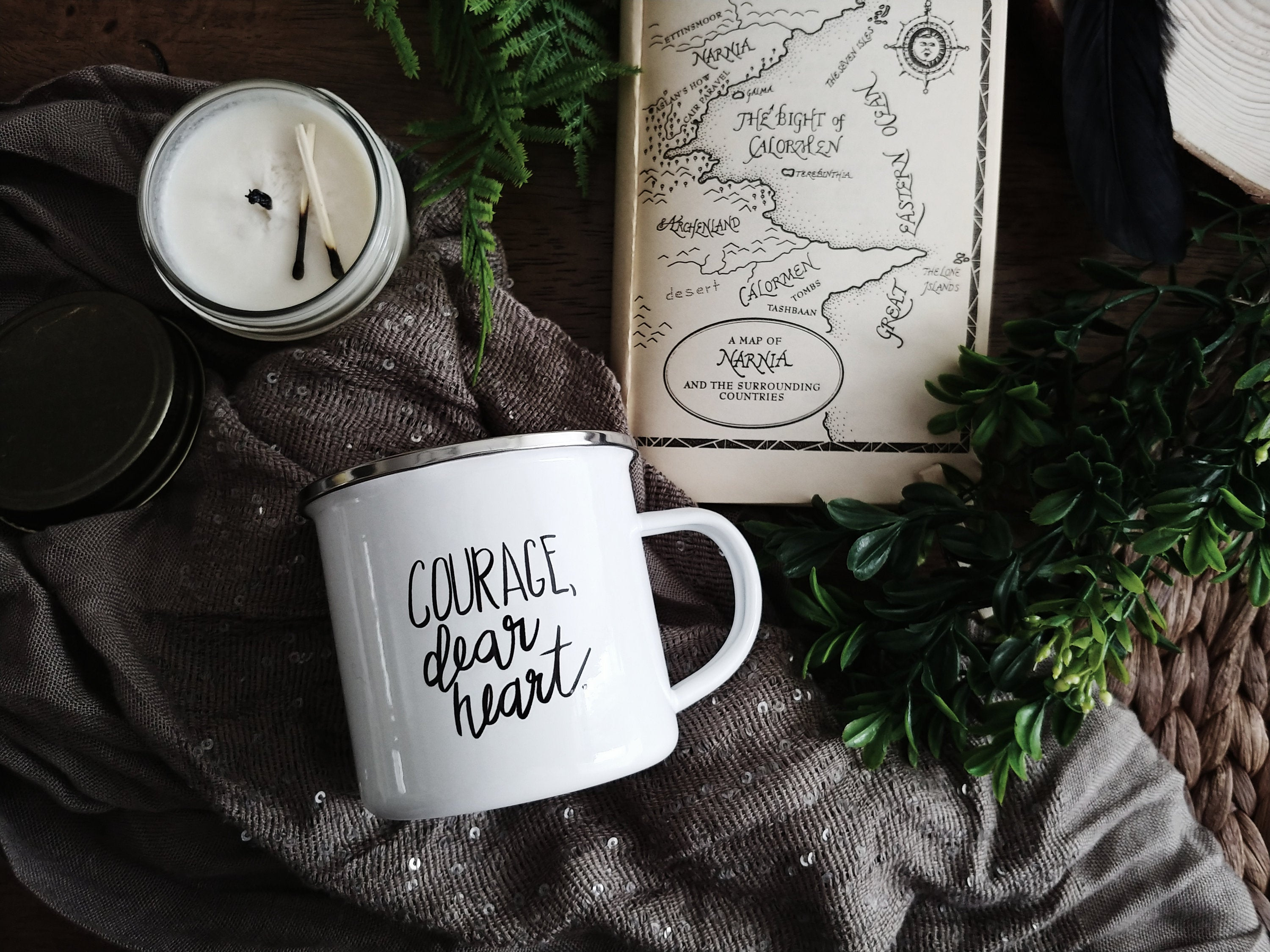"""Courage Dear Heart"" Campfire Mug"