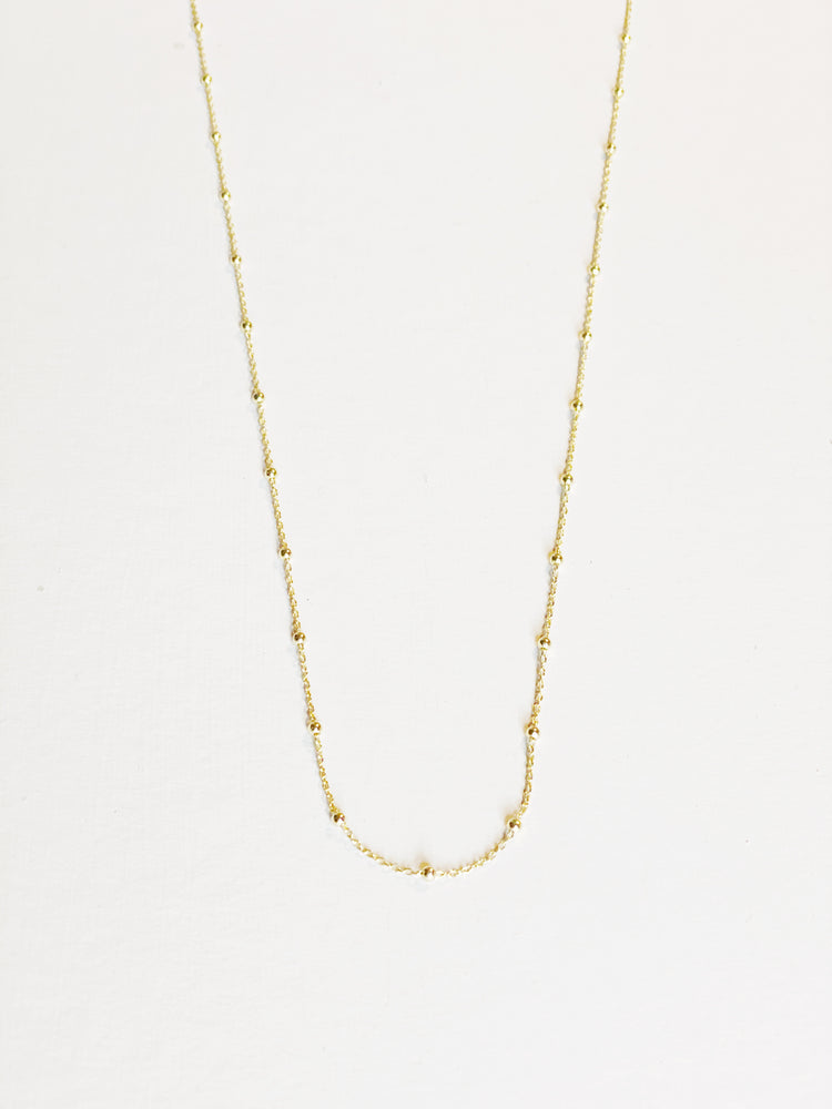 Gold Vermeil Satellite Chain Necklace - Various Lengths