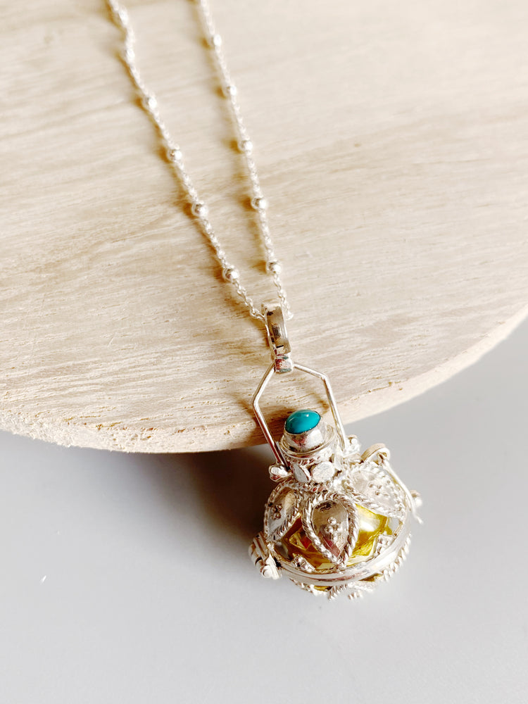 Turquoise Harmony Ball Locket