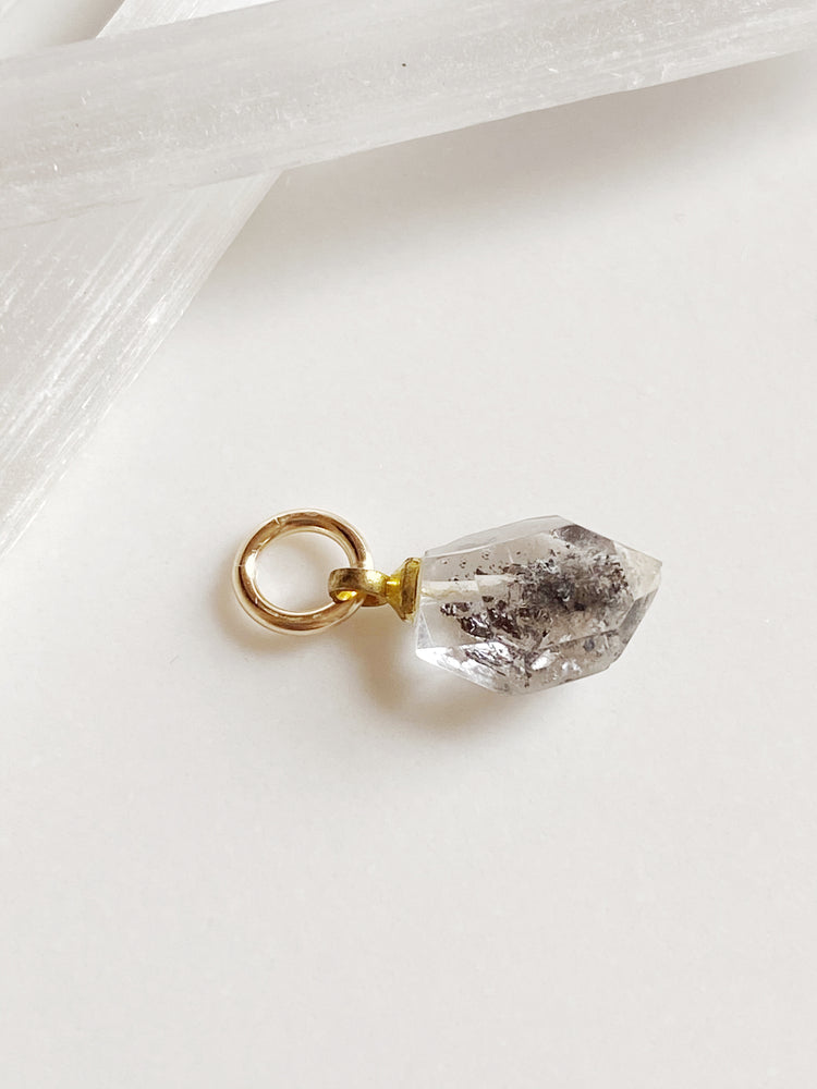 Rough Cut Herkimer Diamond Charm