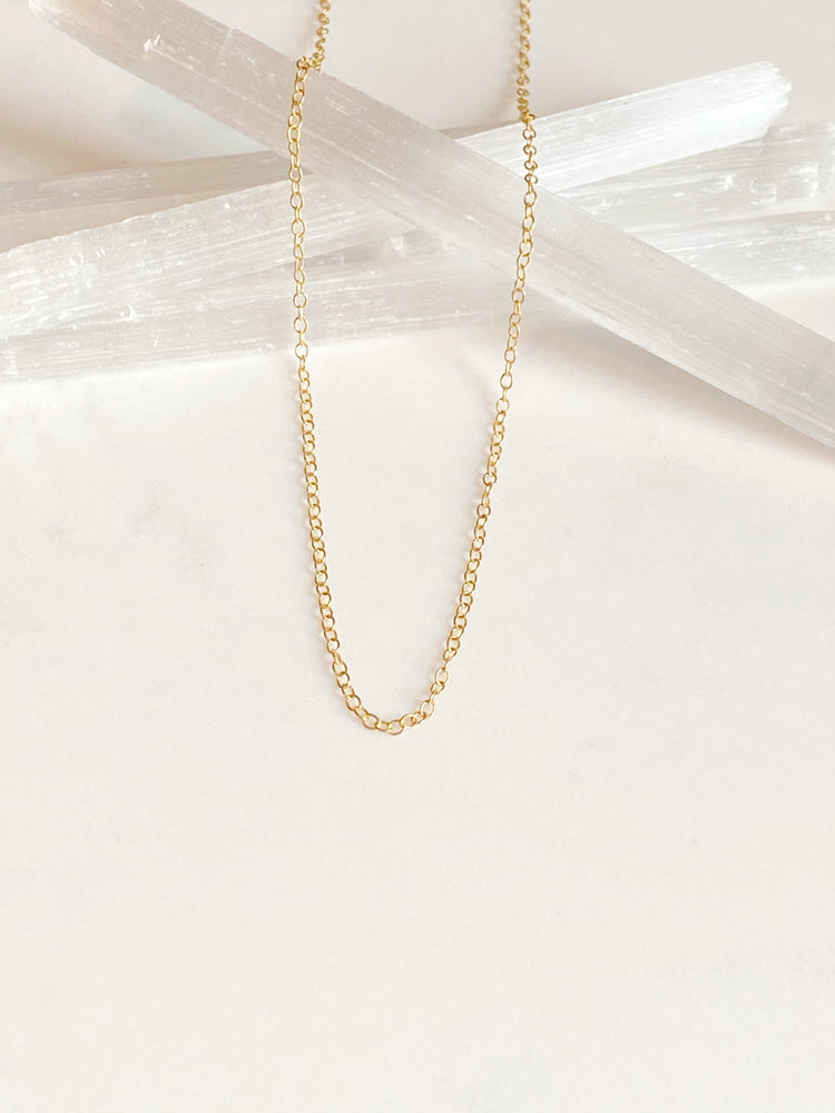 Gold Vermeil Trace Chain Necklace 16-18 inch