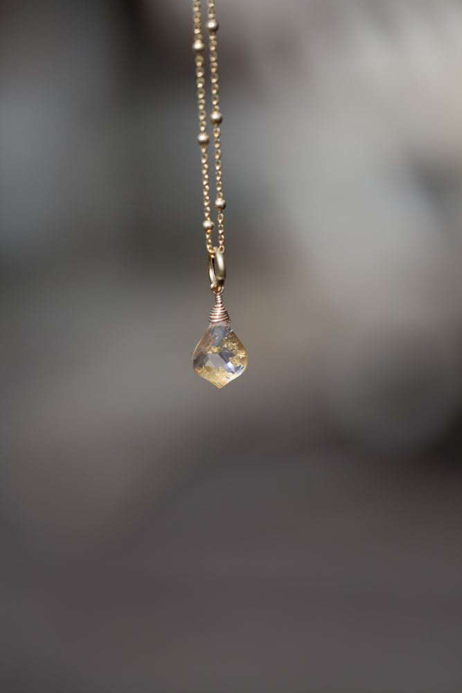 Guardian Pink Amethyst Satelite Chain necklace
