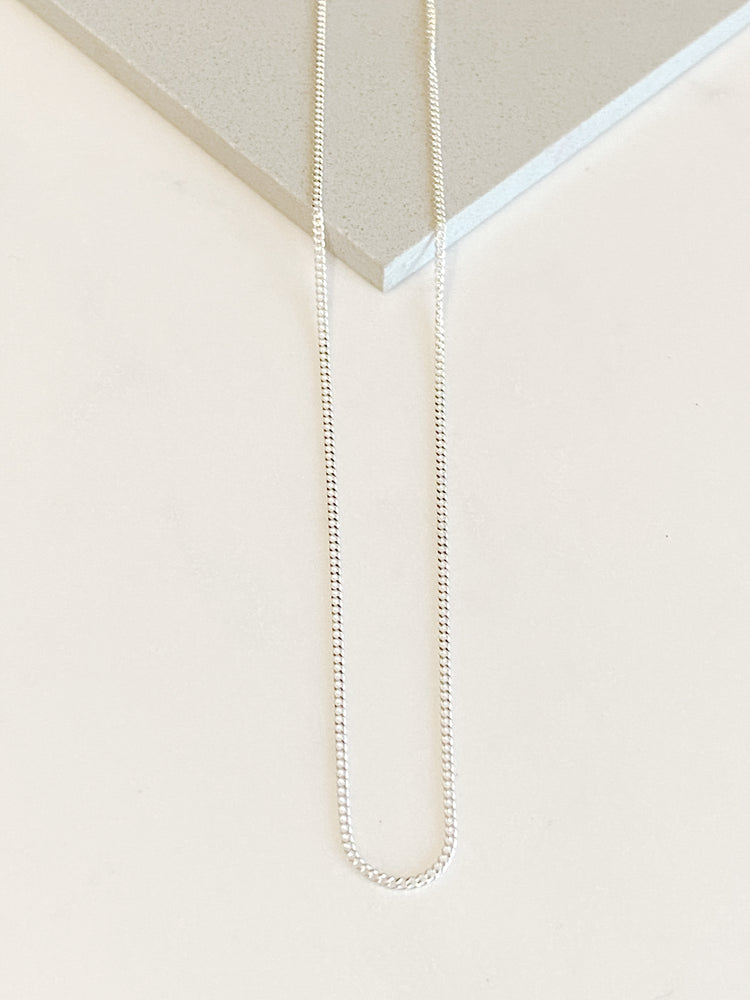 Sterling Silver Fine Curb Necklace - various lengths