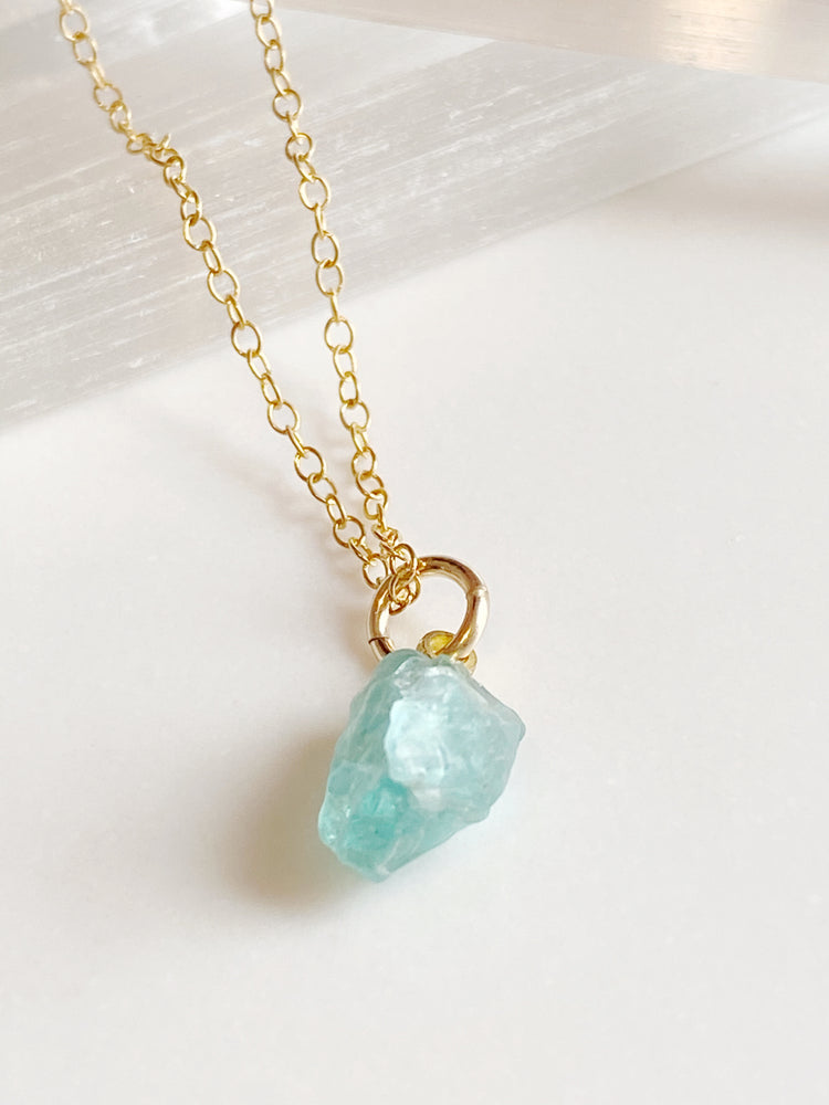 Rough Cut Apatite Charm
