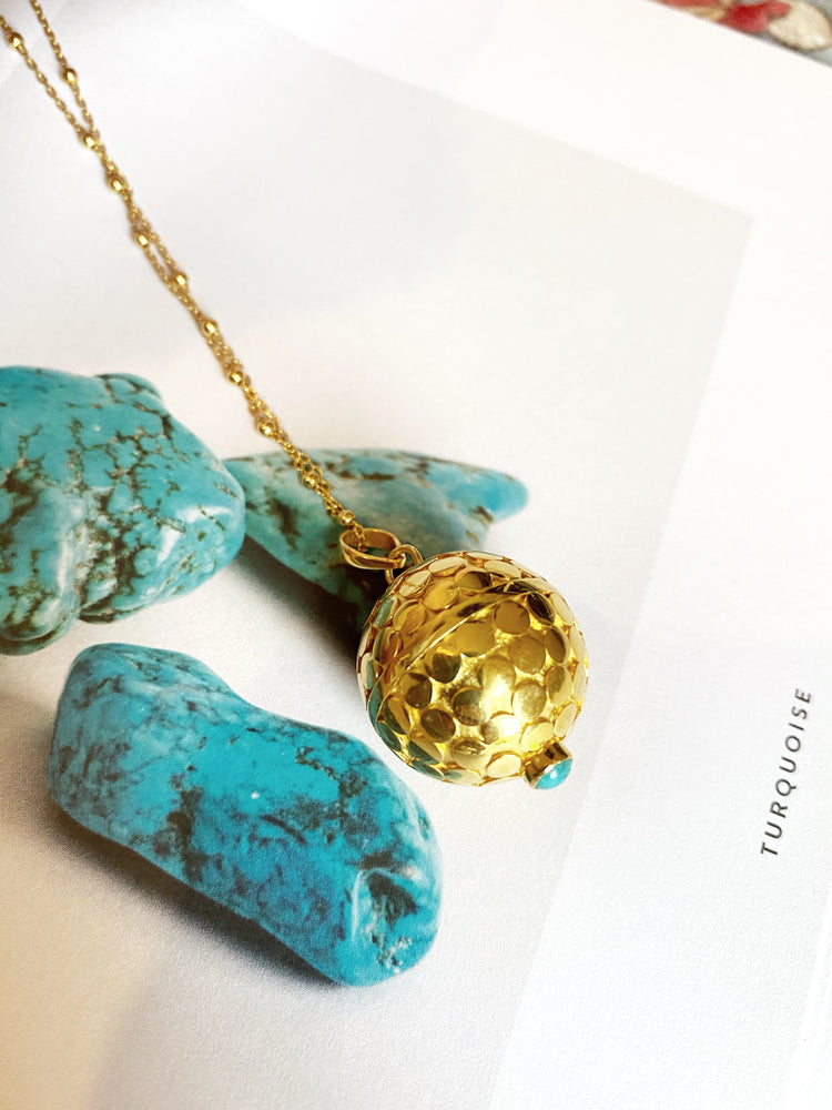 Turquoise Dewi Dot Harmony Ball Necklace