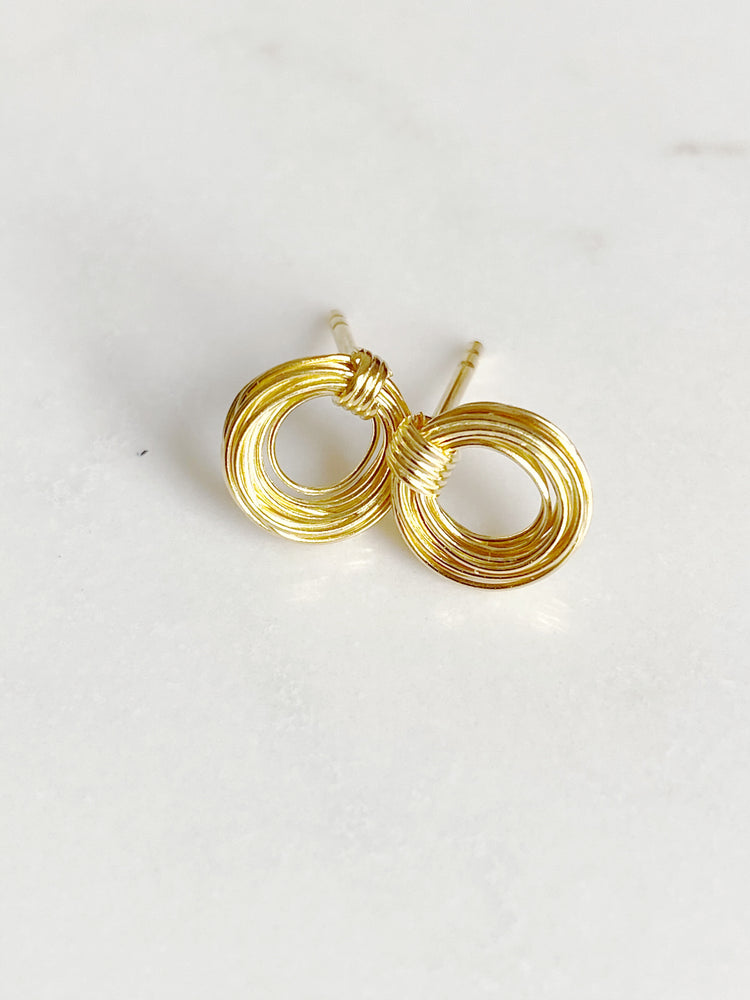 Wire Circle Stud