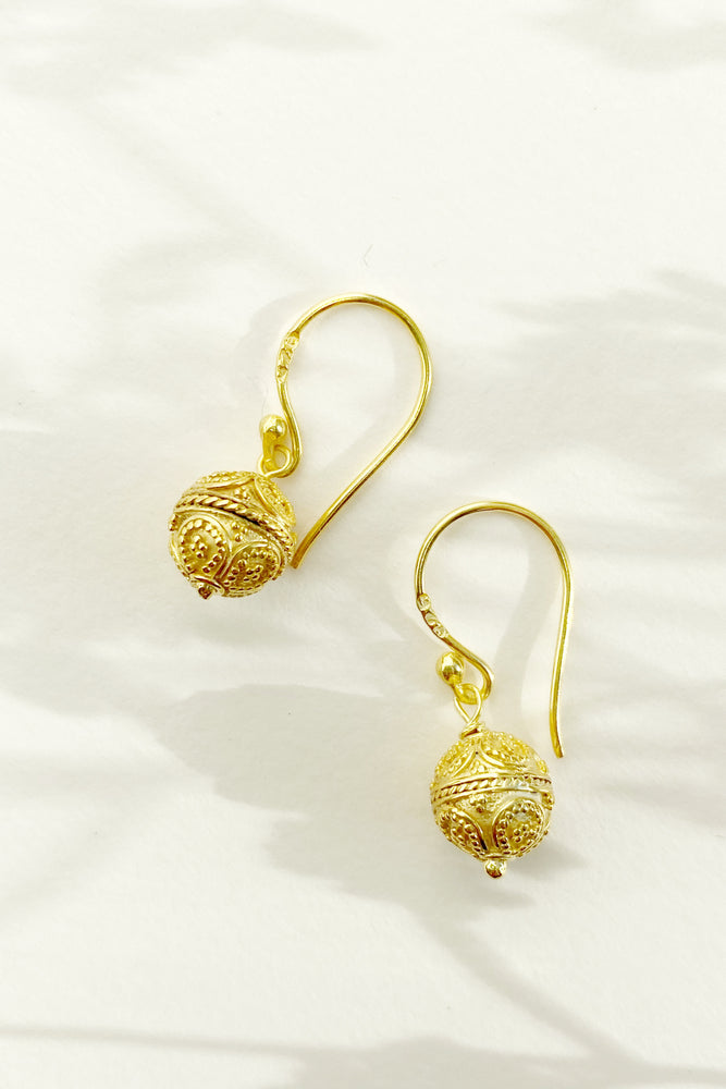 Mini Bali Harmony Ball Earrings