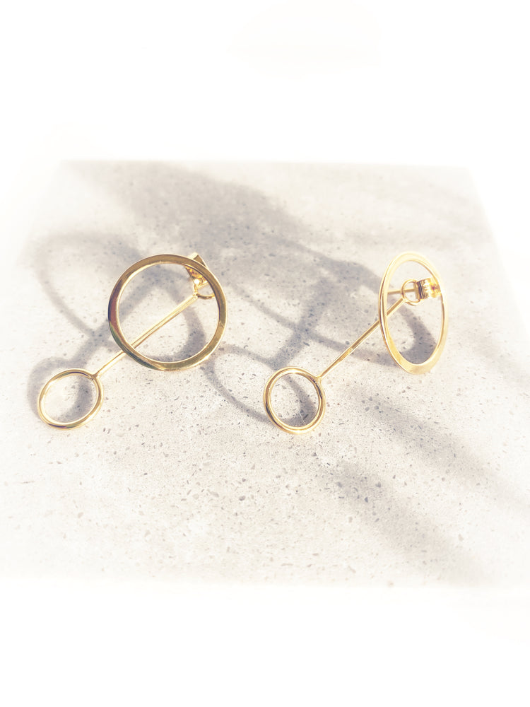 Irena Two Way Circle Earring