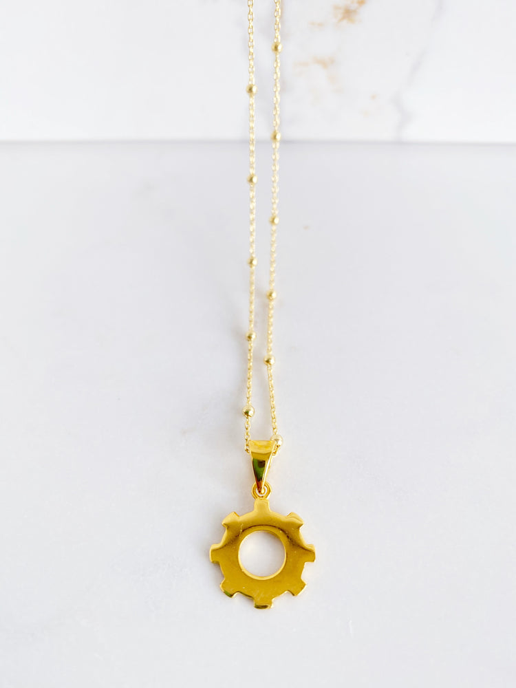 Cog Pendant on Satelite Chain
