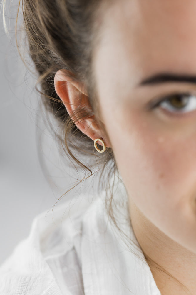 Small Circle Stud Earring