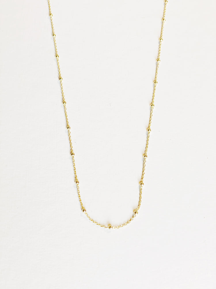 Gold Vermeil Satellite Chain Necklace 28 inch