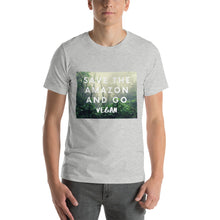 Load image into Gallery viewer, Save the Amazon and Go Vegan | Short-Sleeve Unisex T-Shirt
