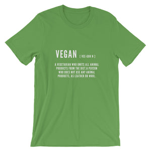 Vegan Definition | Short-Sleeve Unisex T-Shirt