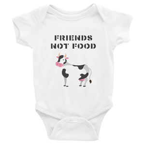 Friends Not Food | Cow | Infant Bodysuit