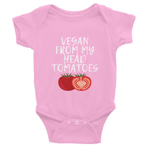 Vegan From My Head Tomatoes | Infant Bodysuit