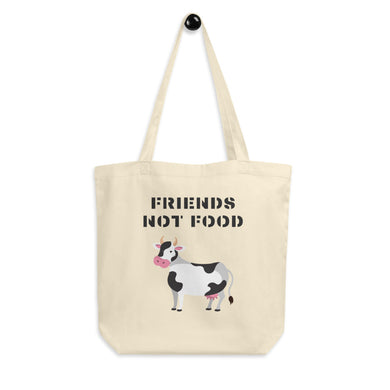 Friends Not Food | Cow Eco Tote Bag