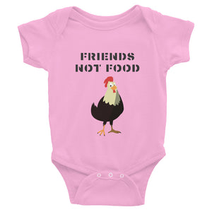 Friends Not Food | Chicken | Infant Bodysuit