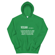 Load image into Gallery viewer, Vegan Definition | Unisex Hooded Sweatshirt